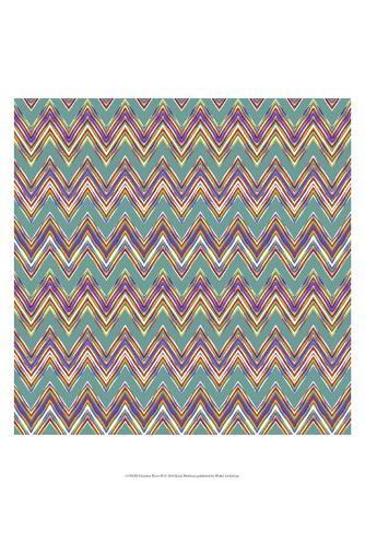 Chevron Waves II Reproduction d'art