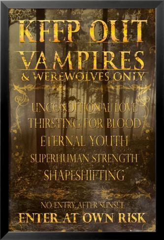 Keep Out - Vampires Poster en laminé encadré