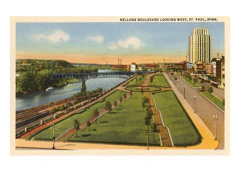 Kellogg Boulevard, St. Paul, Minnesota Reproduction d'art