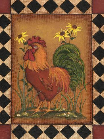Red Rooster I Reproduction d'art