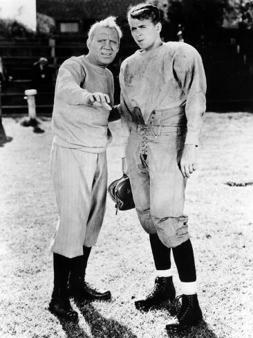 Knute Rockne All American, Pat O'Brien, Ronald Reagan, 1940 Photographie