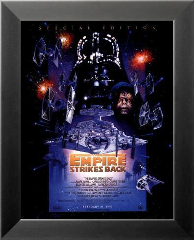L'empire contre-attaque - Edition spéciale (carte grand format) Affiche encadrée