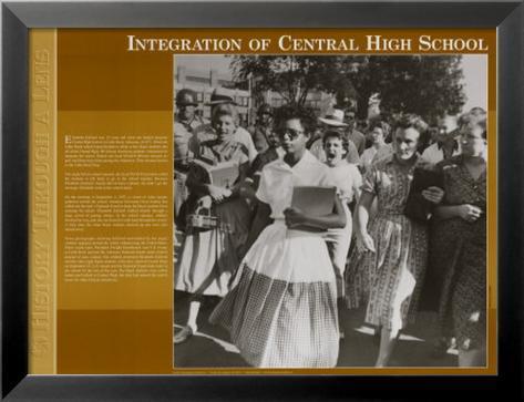 L'histoire à travers un objectif - Intégration à la Central High School Reproduction d'art en laminé encadrée