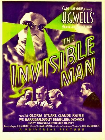 L'Homme invisible Reproduction d'art