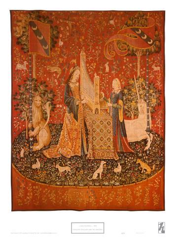 L 39 ou e tapisserie de la dame la licorne poster sur - Tapisserie dame a la licorne ...