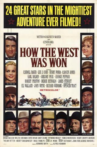 La Conquête de l'Ouest Affiche originale