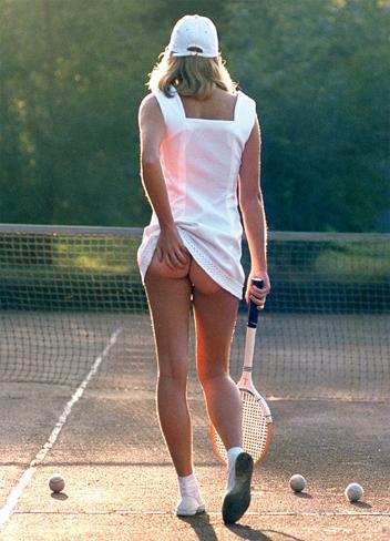 La Joueuse de Tennis Affiche format carte