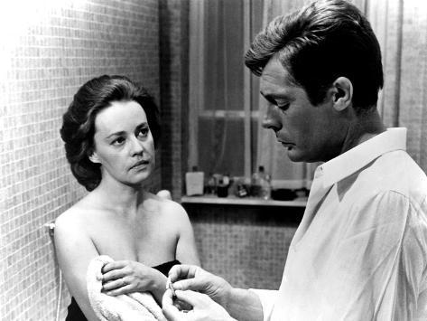 La Notte, Jeanne Moreau, Marcello Mastroianni, 1961 Photographie
