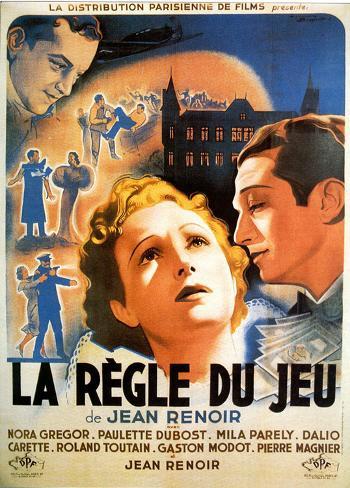 La règle du jeu de Jean Renoir - Affiche du film Affiche originale