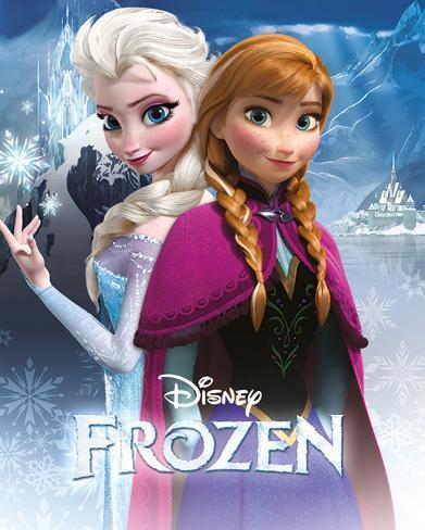 La Reine des neiges - Anna & Elsa Mini-affiche