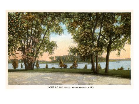 Lake of Isles, Minneapolis, Minnesota Reproduction d'art