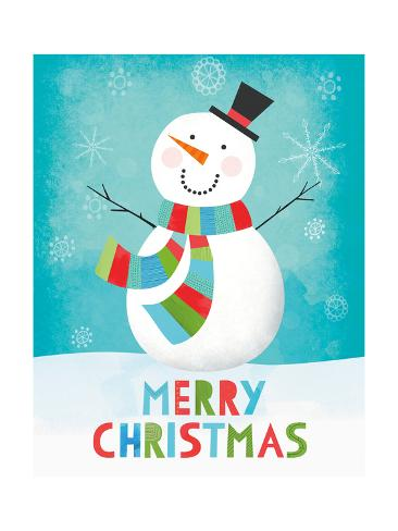 Merry Snowman III Reproduction giclée Premium