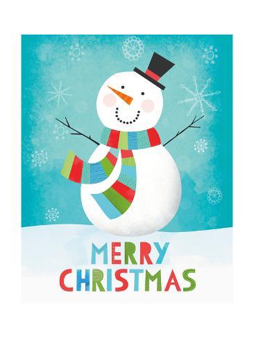 Merry Snowman III Reproduction d'art