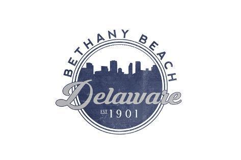 Bethany Beach, Delaware - Skyline Seal (Blue) Reproduction d'art