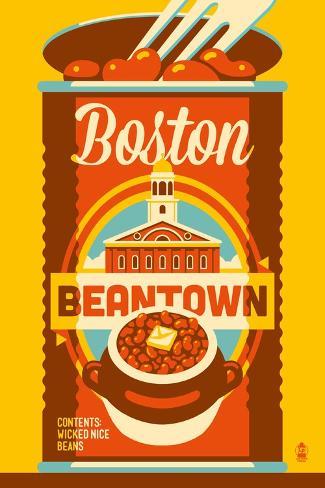 Boston, Massachusetts - Beantown Reproduction d'art
