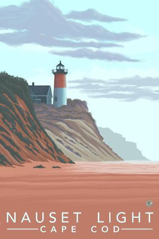 Cape Cod, Massachusetts, Nauset Lighthouse Reproduction d'art