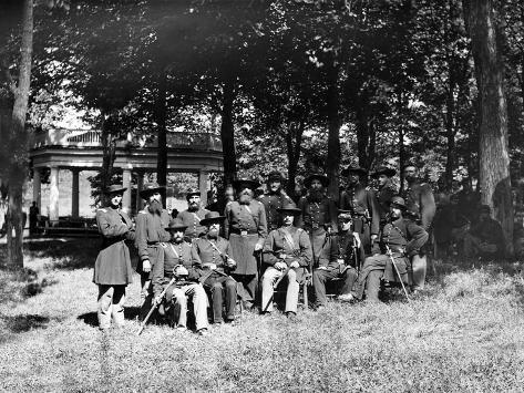 Civil War, Fauquier Sulphur Springs, VA, New York Volunteers Officers, no.2 Reproduction d'art