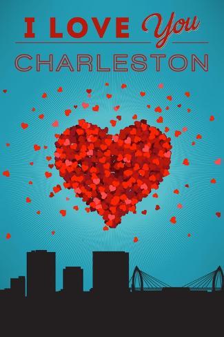 I Love You Charleston, South Carolina Reproduction d'art