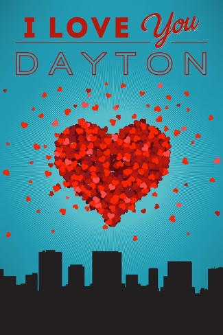 I Love You Dayton, Ohio Reproduction d'art