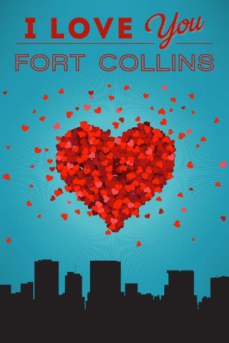I Love You Fort Collins, Colorado Reproduction d'art