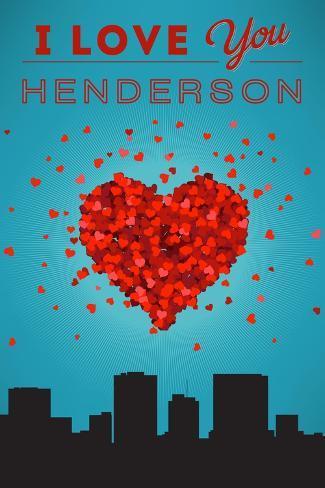 I Love You Henderson, Nevada Reproduction d'art
