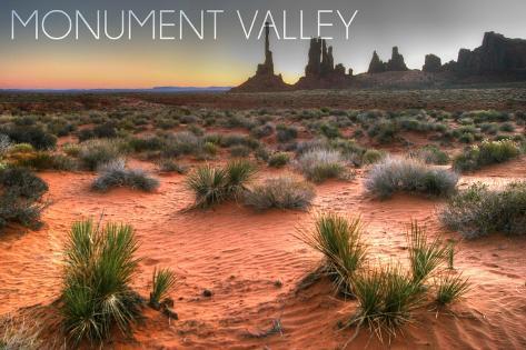 Monument Valley, Utah - Totem Pole after Sunrise Reproduction d'art