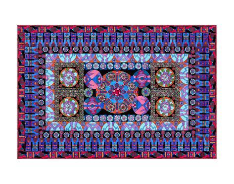 Turquoise Tapestry Reproduction d'art
