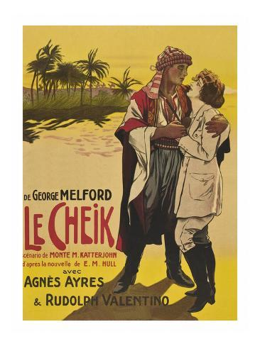 Le Cheik (The Sheik) Reproduction d'art