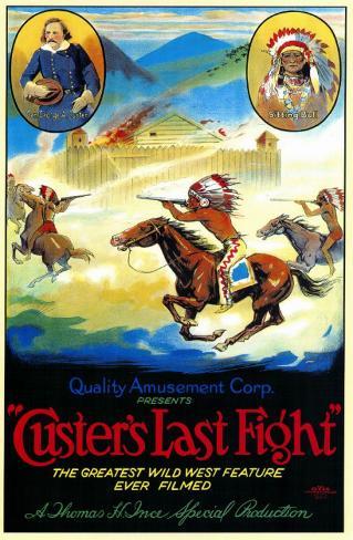 Le dernier combat de Custer Affiche originale