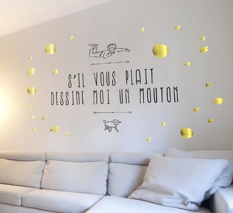 Le Petit Prince - Dessine-Moi Un Mouton 2 Autocollant Mural Sur