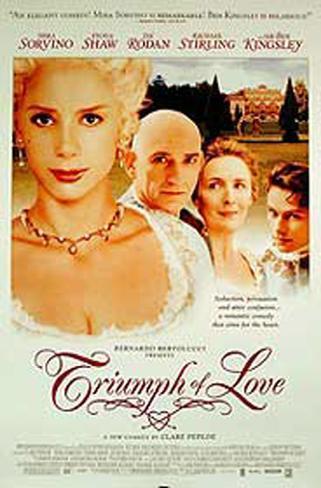 Le triomphe de l'amour Affiche originale