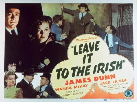Leave It to the Irish, 1944 Reproduction giclée Premium