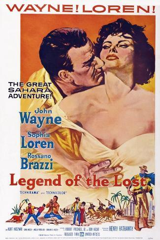 Legend of the Lost, John Wayne, Sophia Loren, 1957 Reproduction d'art