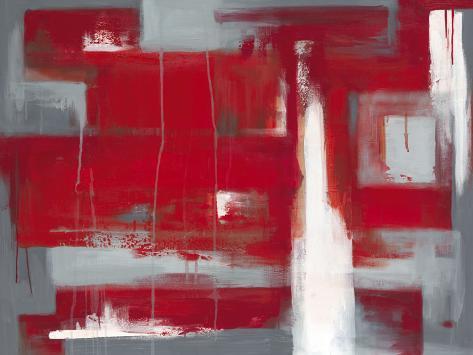 Abstrait rouge Reproduction d'art