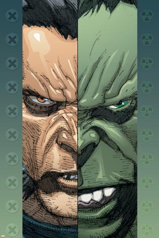 Ultimate Wolverine Vs. Hulk No.2 Cover: Logan and Hulk Poster