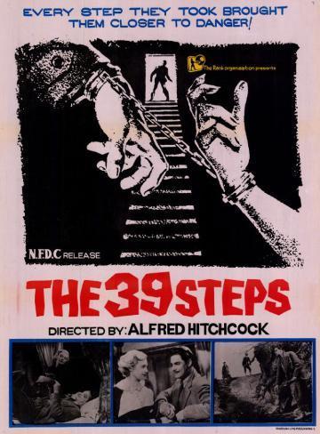 «Les 39 marches» Affiche originale