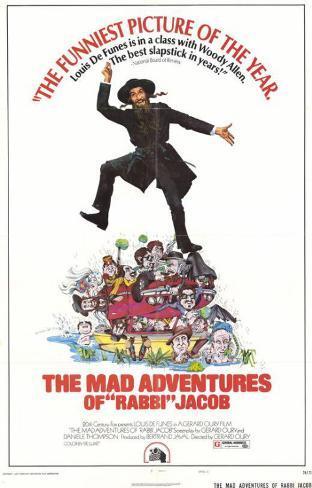 Les aventures de Rabbi Jacob, 1973 Affiche originale