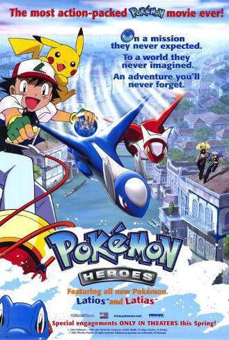 Les Héros Pokémon Affiche originale