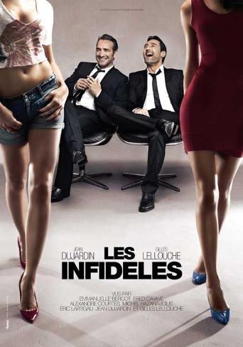 Les infidèles, affiche du film avec Jean Dujardin et Gilles Lellouche, 2012 Affiche originale
