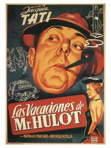 Les vacances de Monsieur Hulot : film de Jacques Tati, 1953 (Affiche espagnole) Reproduction d'art