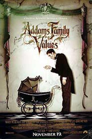 Les Valeurs de la famille Addams Affiche originale