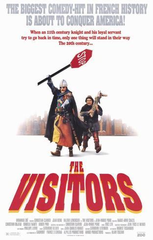 Les visiteurs de Jean-Marie Poiré - Affiche américaine du film Affiche originale
