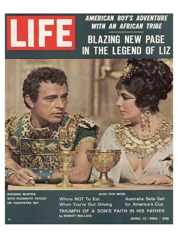 LIFE Burton-Taylor Cleopatra Reproduction d'art