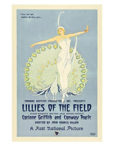 Lillies Of The Field - 1924 Reproduction procédé giclée