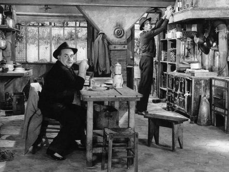 Fernand Sardou et Sacha Pitoëff : Les espions 1957 Reproduction photographique