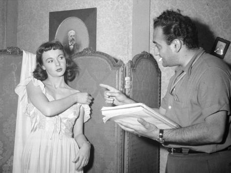 Henri Verneuil et Françoise Arnoul : Le Fruit Défendu, 1952 Reproduction photographique