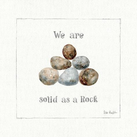 Pebbles and Sandpipers VI Reproduction d'art