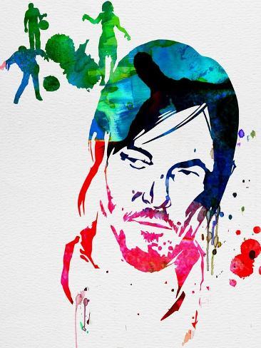 Daryl Watercolor Reproduction d'art