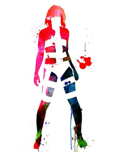 Leeloo Watercolor Reproduction giclée Premium