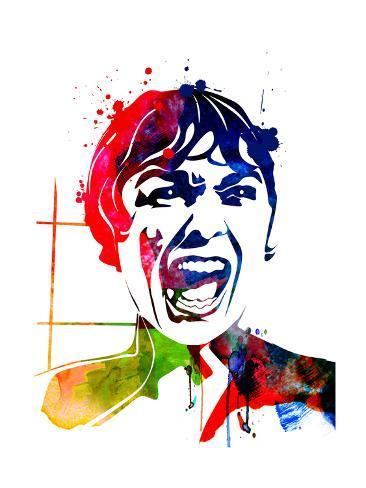 Psycho Watercolor Reproduction d'art